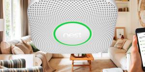 Detector de humo Nest. Casa inteligente